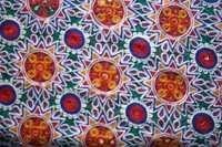 Embroidery Fabrics Multi Colored