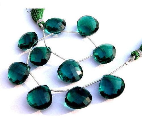 Green Tourmaline Briolette Gemstone Beads