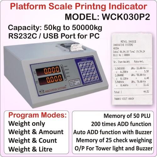 Platform Scale Receipt Printing Indicator