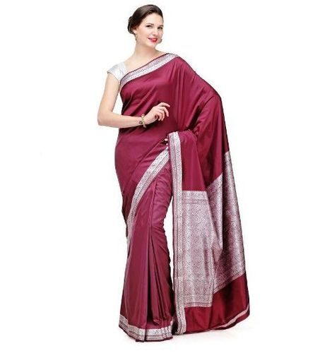 Silk sarees with zari work