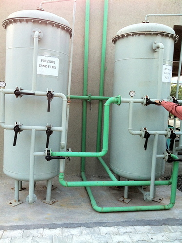Sand Carbon Filters Installation