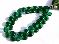 Green Emerald Briolette Gemstone Beads