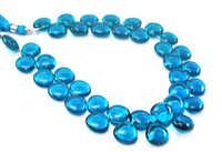 Blue Topaz Briolette Gemstone Beads