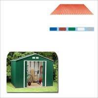 Color Coated Steel Storage Shed