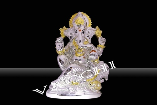 Silver Electroplated Ganesha Statue