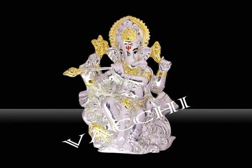 Silver Plated Resin Ganesha
