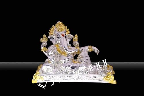 Silver Plated Wax Ganesha