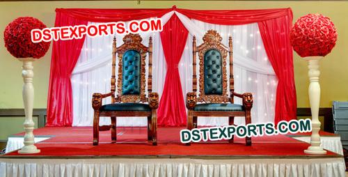 Indian Wedding Maharaja Chairs Set
