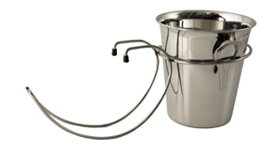 WIRE WINE BUCKET STAND TABLE MOUNTED