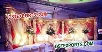 BEAUTIFUL WEDDING GOLD CRYSTAL STAGE