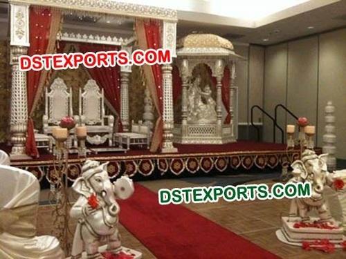 Stylish Indian Wedding Radha Krishan Mandap
