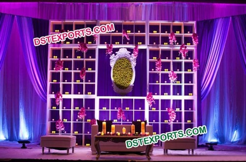Wedding Ceremony Stage Candle Backdrop Stands