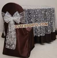 WEDDING EMBRODRIED TABLE OVERLAYS