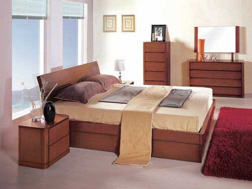 WOODEN DOUBLE BED SET