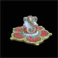 Marble Kamal Plate Ganesh