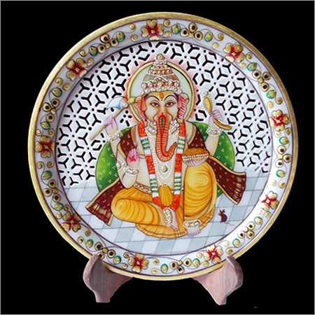 Marble Ganesh Plate