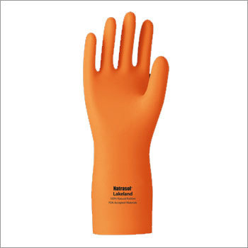 chemical resistant rubber hand gloves