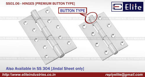 Premium Button Type SS Hinges