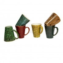 4 Pcs Assorted Kitsch Tea-Coffee Mug Set