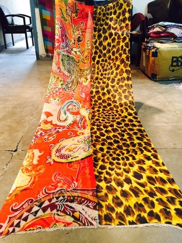 Cashmere Leopard paisley Shawl