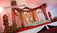 ASIAN WEDDING WOODEN HALF MOON STAGE