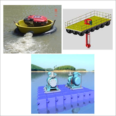 Floating Pump in river