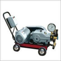 High pressure plunger pump with motor and trolly