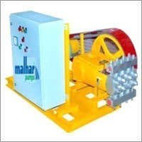 High pressure plunger pump with motor,pully and control panel