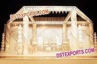 Golden Crystal Mandap Set