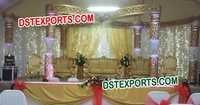 Golden Crystal Butterfly Mandap Set