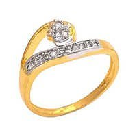 Gold Plated Cubic Zircon Ring