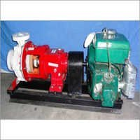 Horizontal Poly-Propylene Bare shaft pump coupled with motor