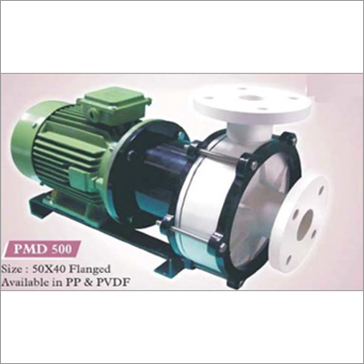 Sealless magnetic drive chemical process pump in PVDF Contrucion
