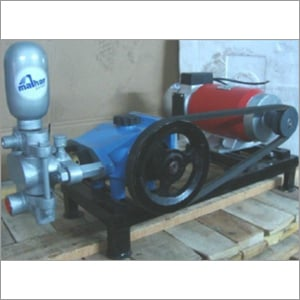 DC Piston coupled pump with motor mounted on base frame with pulley