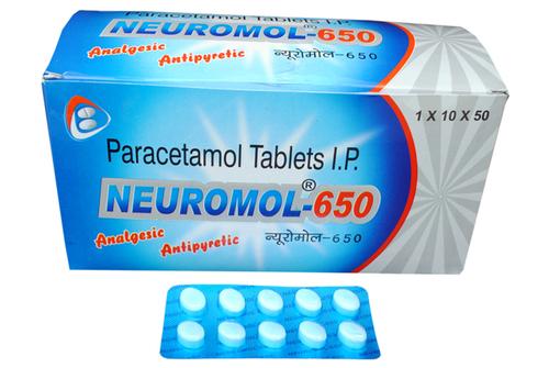 Paracetamol - 650 mg tablets.