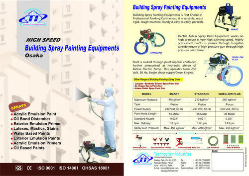 Cataloge for Building Spray Painting Machine