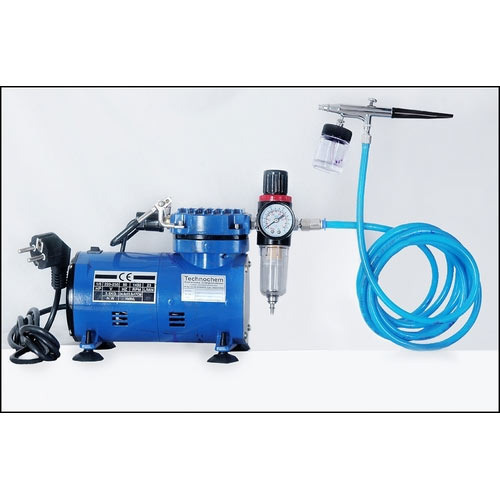 Air Brush Gun With Mini Compressor Ti 004-22 CC