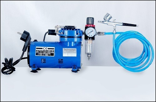 Air Brush Gun with Mini Compressor Ti 004-7cc