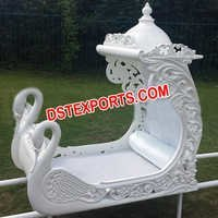 Wedding Pearl White Swan Doli