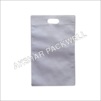 White Non Woven Dcut Bag