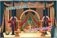 INDIAN WEDDING DECORATED STAGE