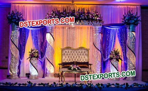 WEDDING DECORATED CRYSTAL STAGE