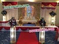 ASIAN WEDDING MAHARAJA STAGE SET
