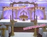 Rajasthani Wedding Wooden Mandap