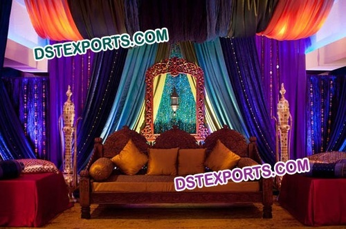 MUGHAL WEDDING STAGE DECORATIONS