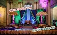 SIKH WEDDING MEHANDI STAGE SET