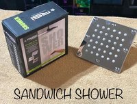 Overhead Sandwich Shower 4'' square