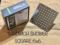 Overhead Sandwich Shower 6'' Square