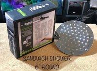 6'' Overhead Sandwich Round Shower