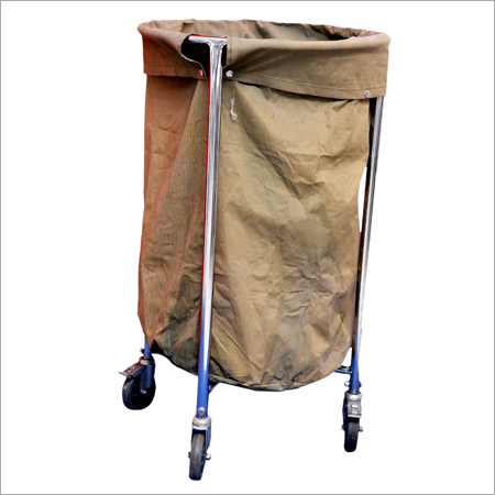 Soiled Linen Trolley (SS) With Canvas Bag